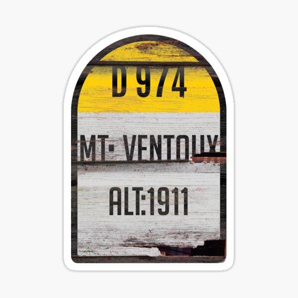 Mont Ventoux France Kilomètre Marqueur Rétro Autocollant Bois & T-Shirt Sticker