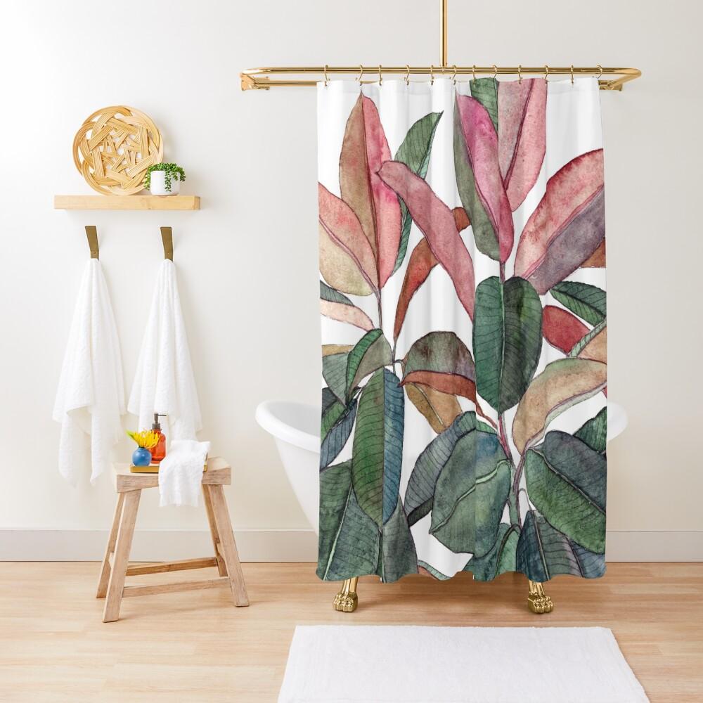 Rubber Plant Shower Curtain