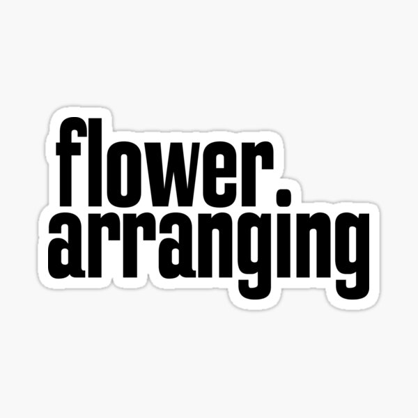 Flower Arranging Floristry Sticker