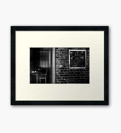 the white teapot Framed Print