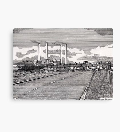 201 - BLYTH POWER STATION - DAVE EDWARDS - INK - 1995 Canvas Print