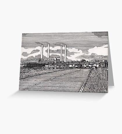 201 - BLYTH POWER STATION - DAVE EDWARDS - INK - 1995 Greeting Card