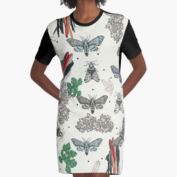 Moths and rocks. Graphic T-Shirt Dress