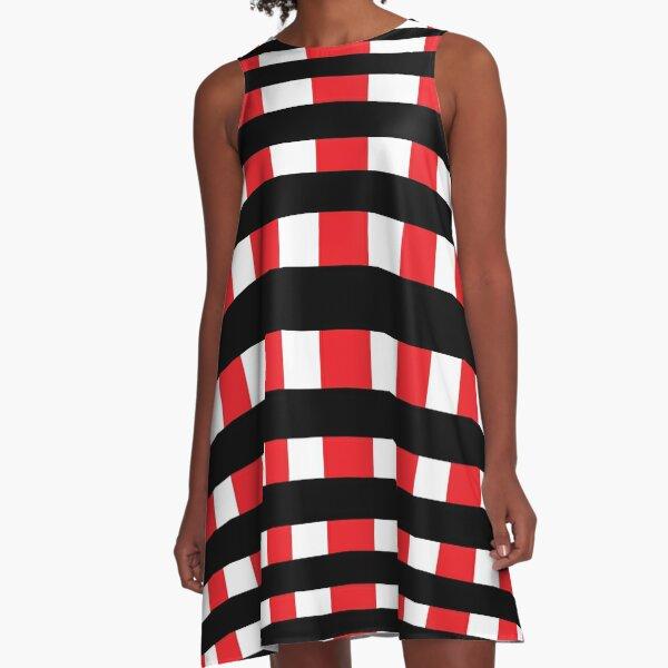 Hypnotic Lines A-Line Dress