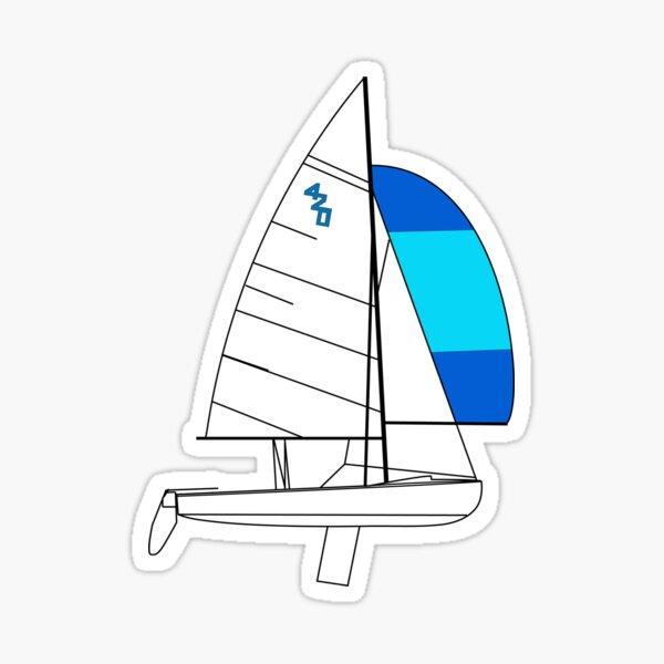 International 420 Sailboat Sticker
