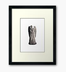 weeping angel Framed Print