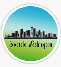 Seattle Washington Skyline Sticker
