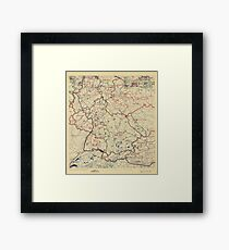 World War II Twelfth Army Group Situation Map June 16 1945 Framed Print