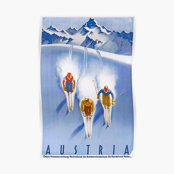 Austria Vintage Ski Poster Poster