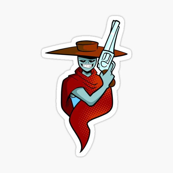 The Gunslinger From Outer Space Sticker