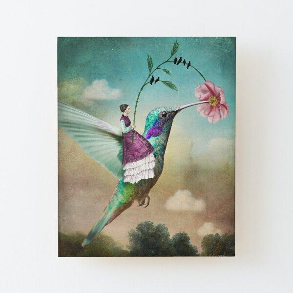 The Hummingbird (6 of wands) Aufgezogener Druck auf Holz
