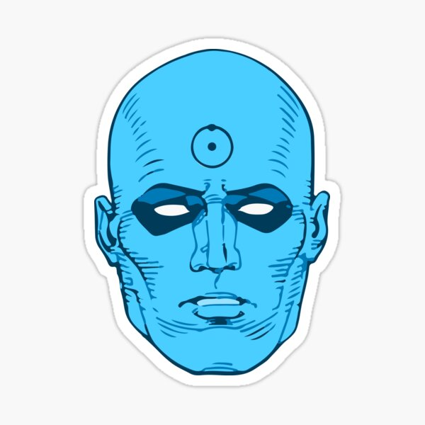 Dr. Manhattan - head Sticker