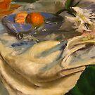 Still Life - White Drapery by Tuna