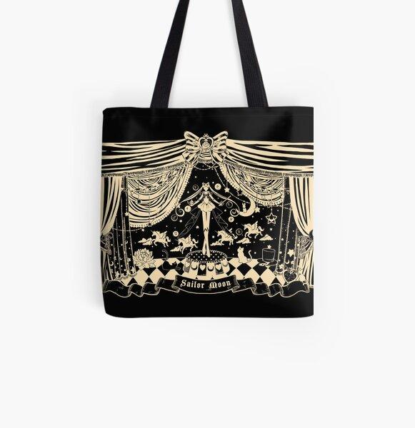 Moonlight Circus - Black All Over Print Tote Bag