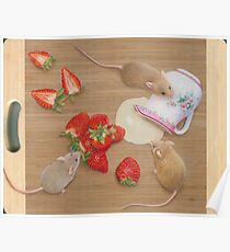 Strawberries and Cream Delight Poster