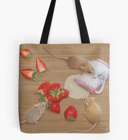 Strawberries and Cream Delight Tote Bag