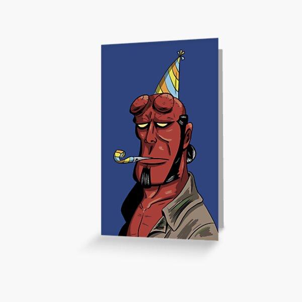 Hellboy Birthday Greeting Card