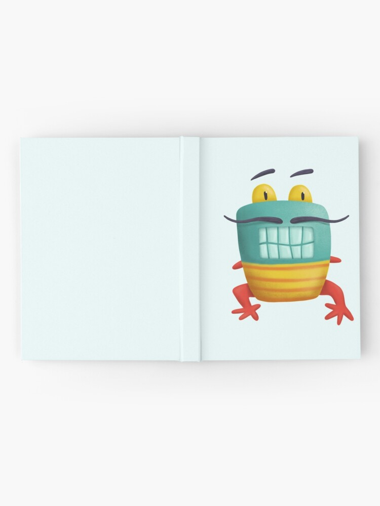 Alternate view of French frog monster creepy cute Hardcover Journal