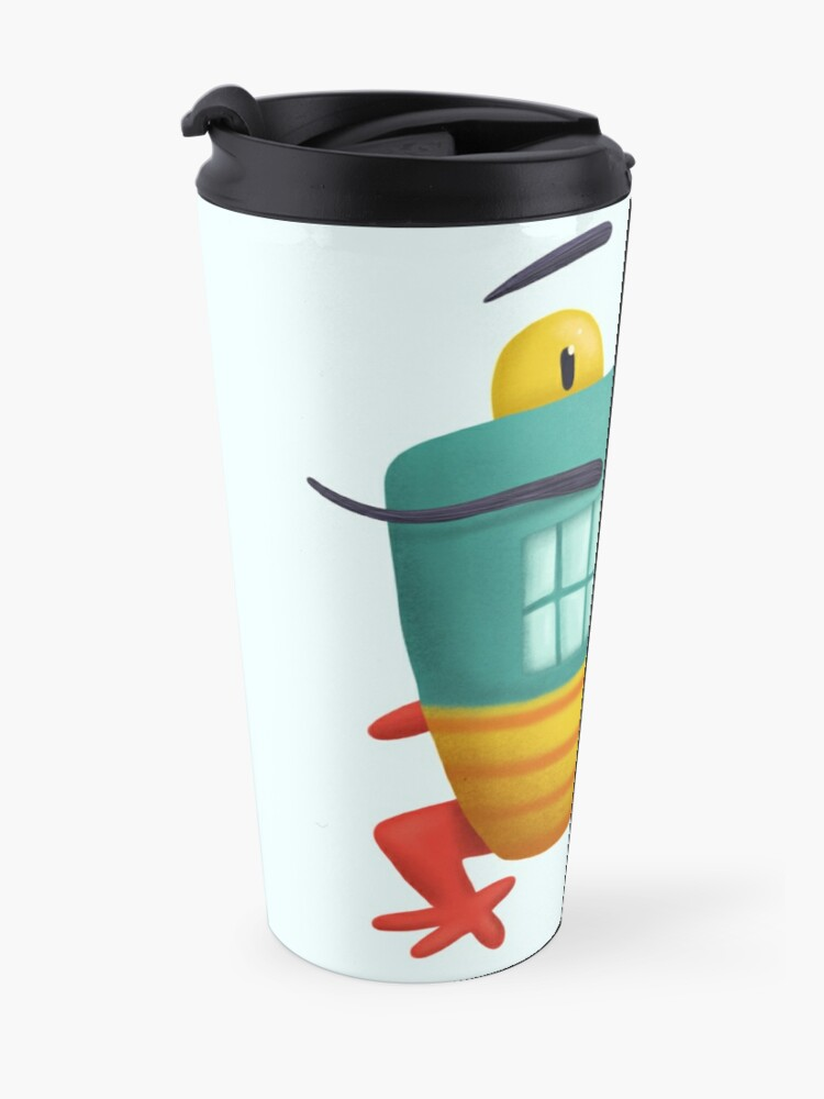 Alternate view of French frog monster creepy cute Travel Mug