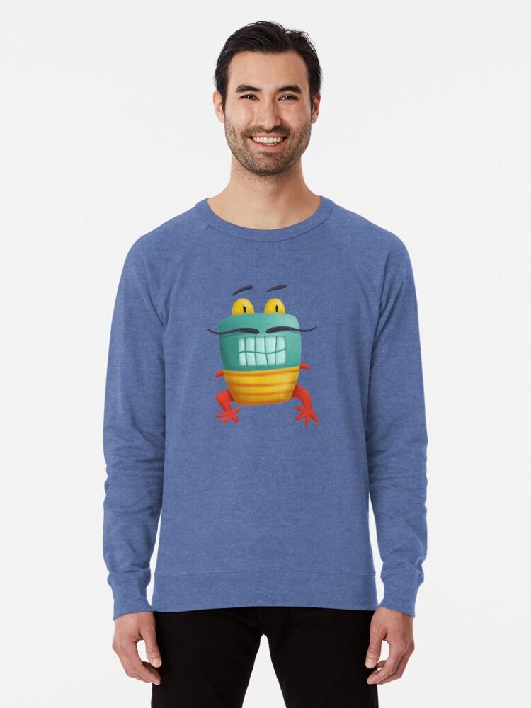 Alternate view of French frog monster creepy cute Lightweight Sweatshirt