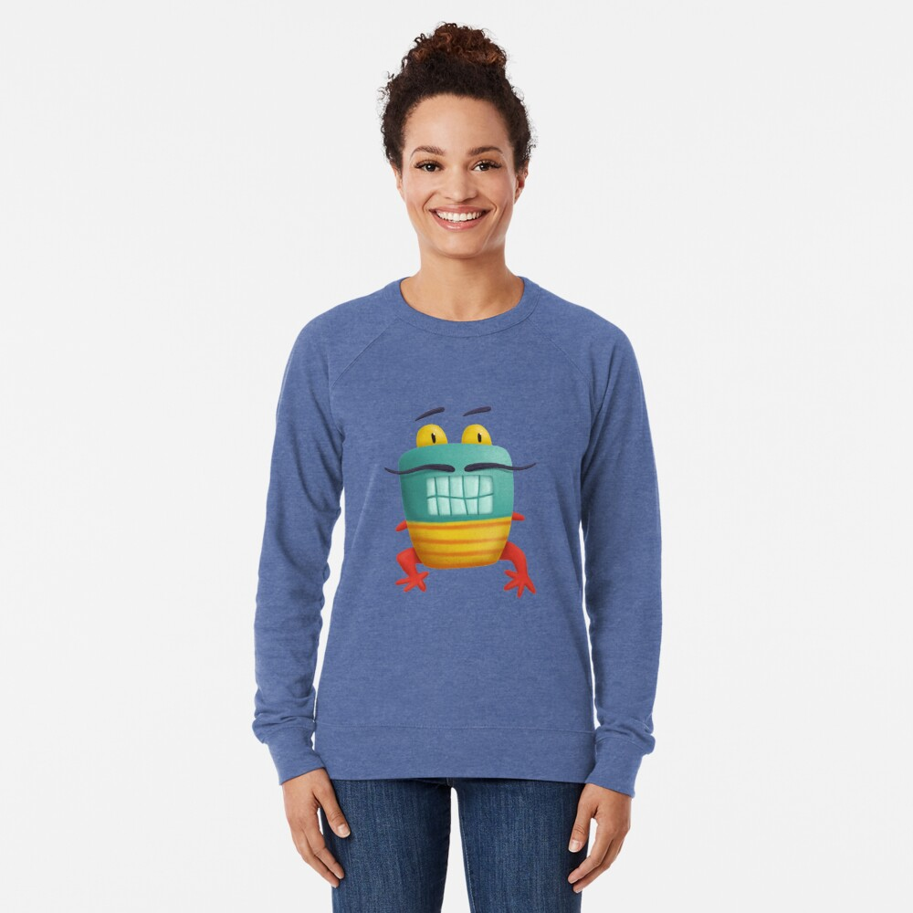 French frog monster creepy cute Lightweight Sweatshirt
