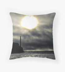 sun breaking in Throw Pillow