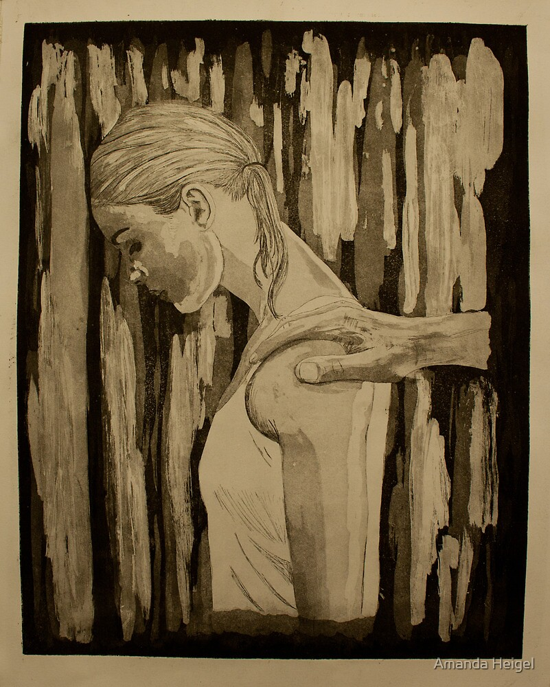 Destructive Behavior- Intaglio Print by Amanda Heigel