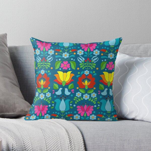 Hungarian bohem floral Throw Pillow