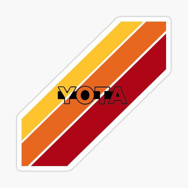 Yota Stripes retro style Sticker
