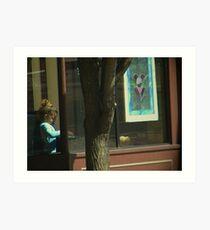 Child in the Window Art Print