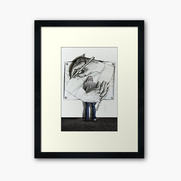 I love Escher Framed Art Print