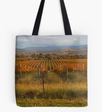 Across the vineyards just before sunset. Tote Bag