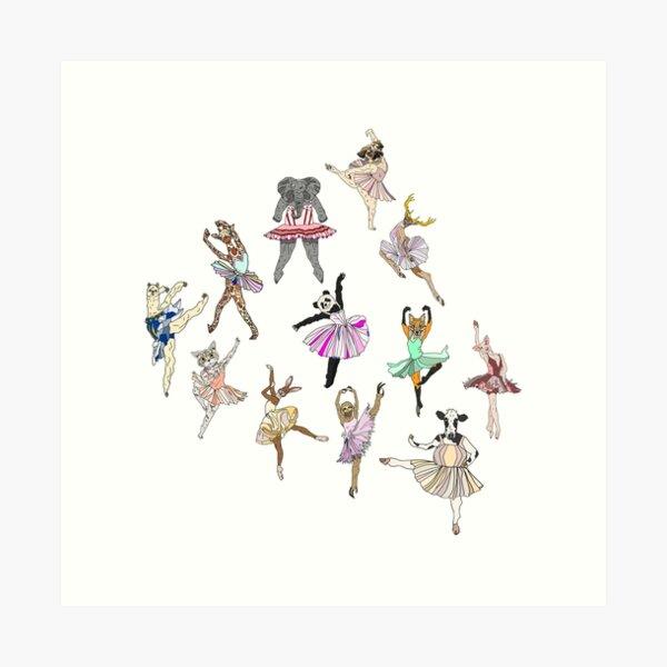 Animal Ballerinas Art Print
