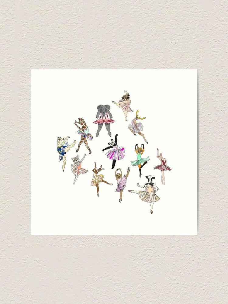 Alternate view of Animal Ballerinas Art Print