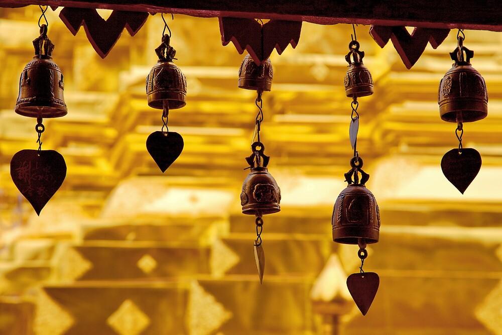 Temple bells, Wat Doi Suthep, Thailand by John Spies