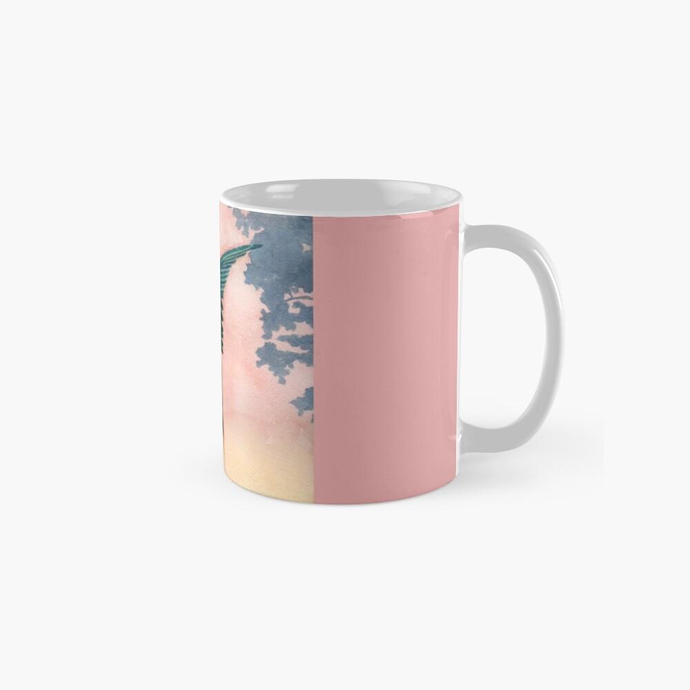 Schlucken bei Sonnenuntergang Tasse