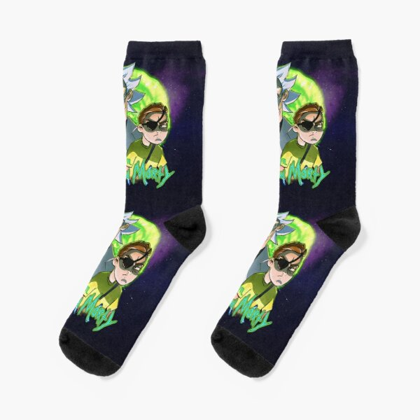 Evil Rick and Morty Chaussettes