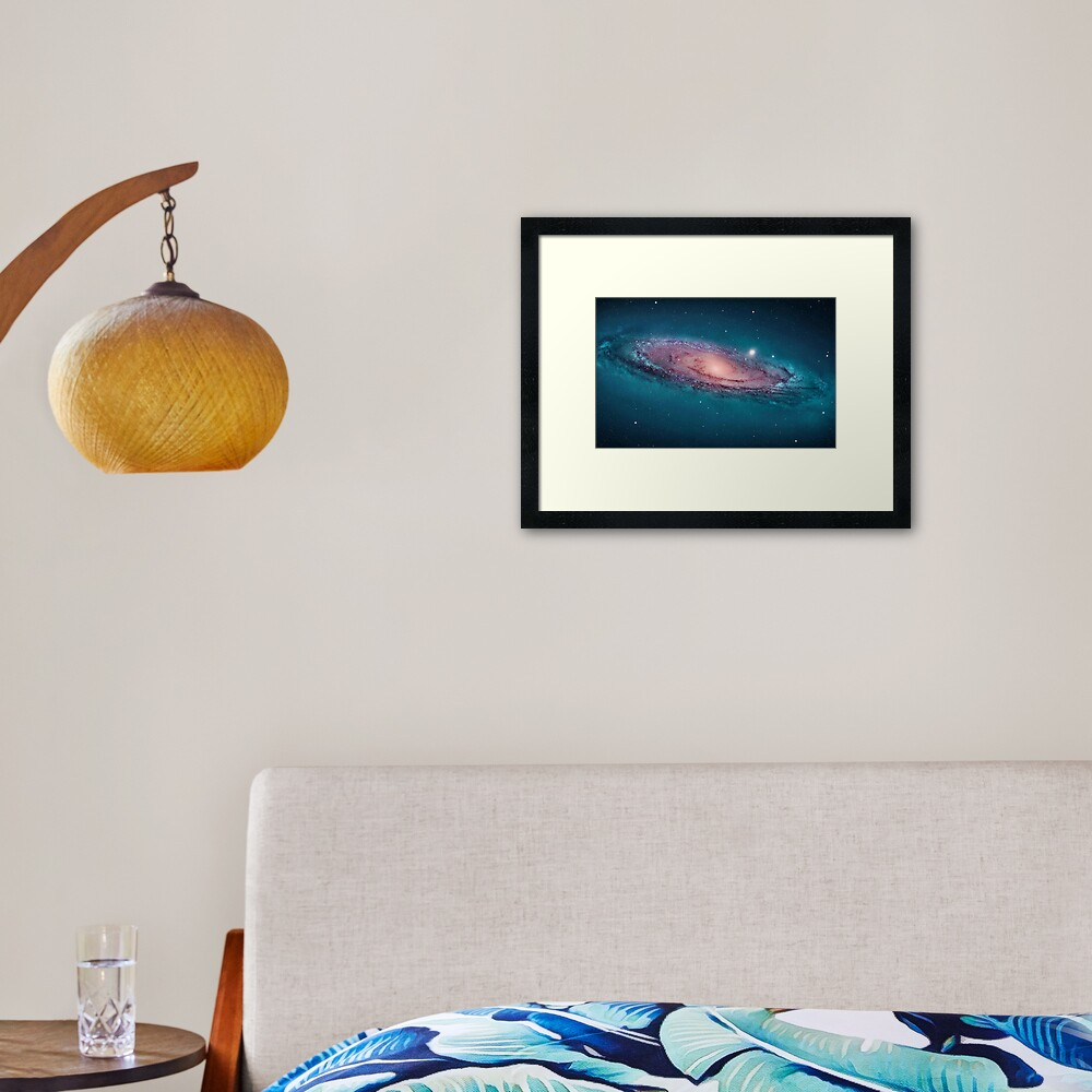 Andromeda Galaxy, space, astrophysics, astronomy Framed Art Print