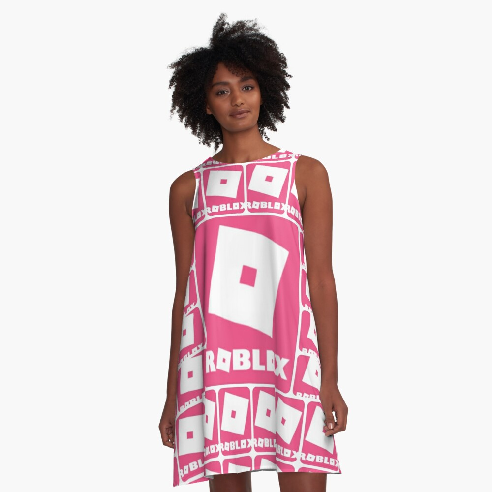Roblox Pink Game Collage A Line Dress By Best5trading Redbubble