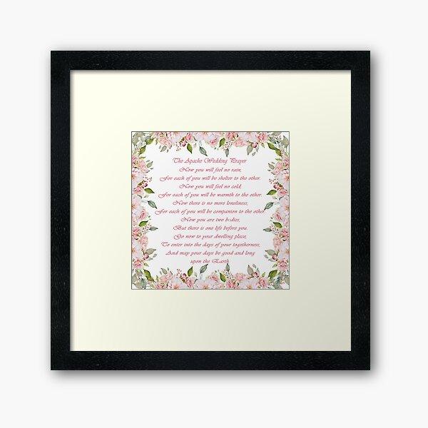 The Apache Wedding Prayer  Framed Art Print