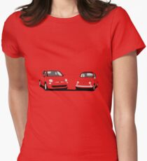 Fiat 500 Comparison Womens Fitted T-Shirt