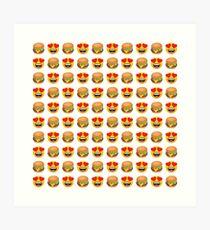 Love Hamburger Emoji JoyPixels Funny Burger Lover Art Print