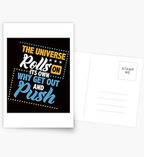 Savvy Turtle The Universe Rolls on its Own Why Get Out and Push Postcards