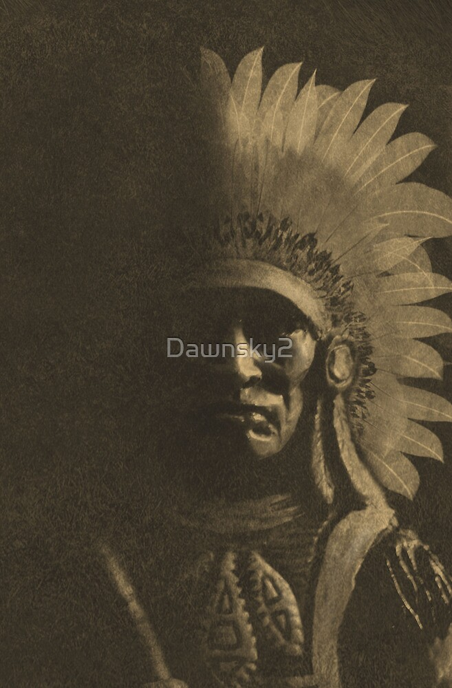 Old Chief in Sepia by Dawnsky2