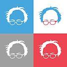 Retro Bernie Hair Shirt - Pop Art Pattern by Andrew Hart