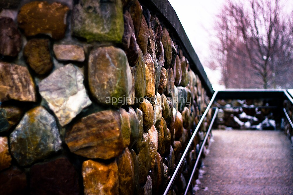 A walk way wall at the Lexington Public Library by apsjphotography
