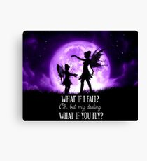 What if I Fall? Oh, but my darling what if you fly? Canvas Print