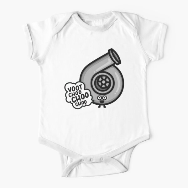 What Does The Cutest Turbo Say? Short Sleeve Baby One-Piece