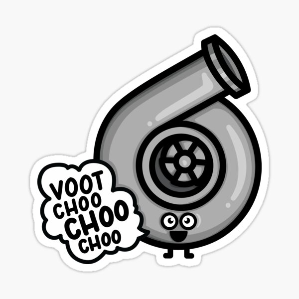 What Does The Cutest Turbo Say? Sticker