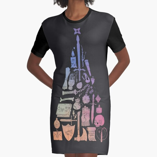 Christmas Loot - Rainbow Graphic T-Shirt Dress